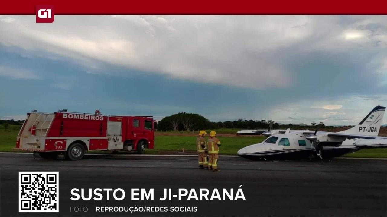 Avião de pequeno porte faz pouso forçado em Ji-Paraná, RO