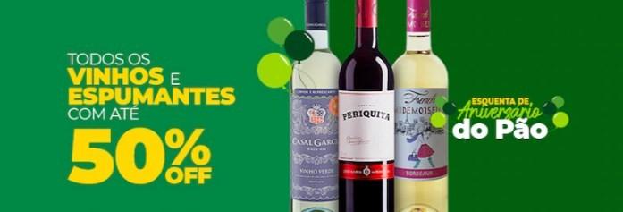 Promoção de vinhos no aniversário do Pão de Açúcar