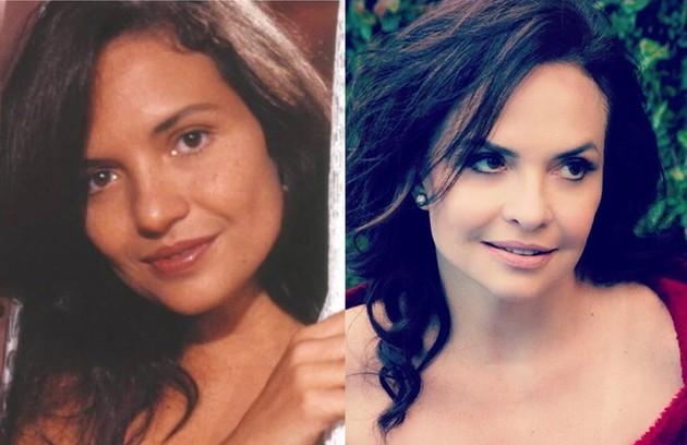 Em 'Tieta', Luiza Tomé viveu Carol, amante de Modesto Pires (Armando Bógus), rejeitada pelas 'mulheres de bem' da cidade. Em 2019, a atriz participou da 'Dança dos famosos' (Foto: TV Globo)