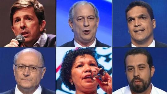 Foto: (Tiago Queiroz/Estadão Conteúdo/Arquivo; Reprodução/TV Bandeirantes; Reprodução/TV Bandeirantes;  Reprodução/TV Bandeirantes; Divulgação / PSTU; Reprodução/TV Bandeirantes)