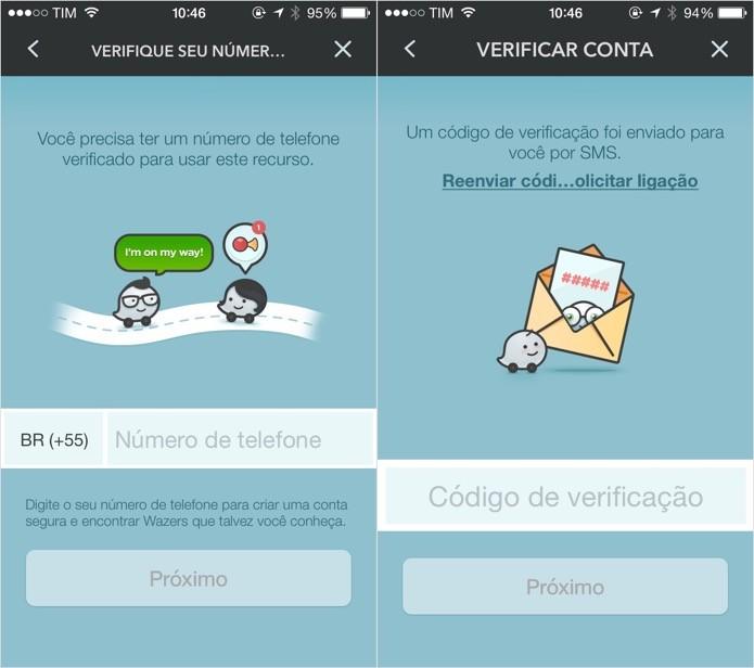 Digite o seu número de celular e entre com o código de confirmação (Foto: Reprodução/Helito Bijora)