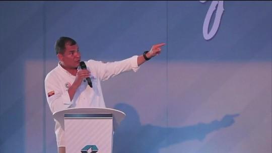 Equador pede prisão e extradição do ex-presidente Rafael Correa