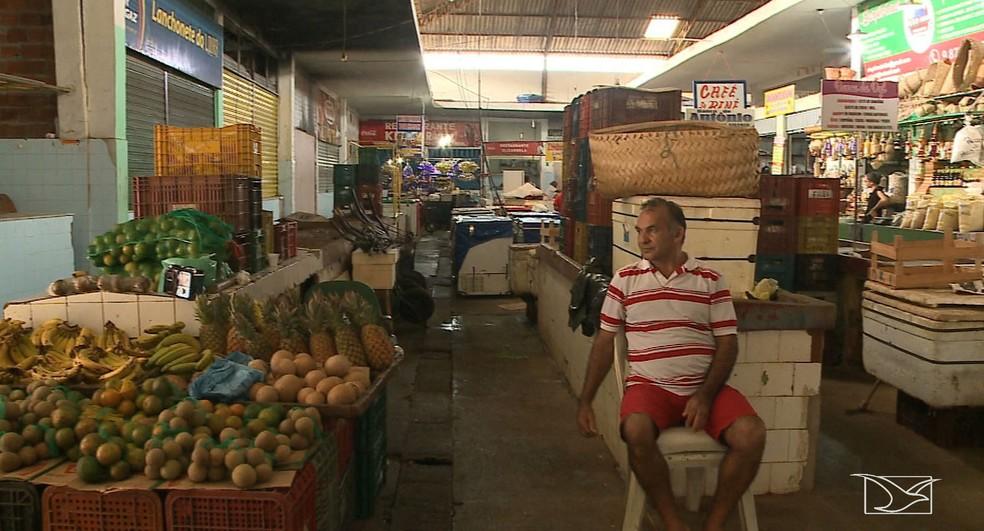 Mercado Central foi inaugurado em São Luís em 1941 (Foto: Reprodução/TV Mirante)