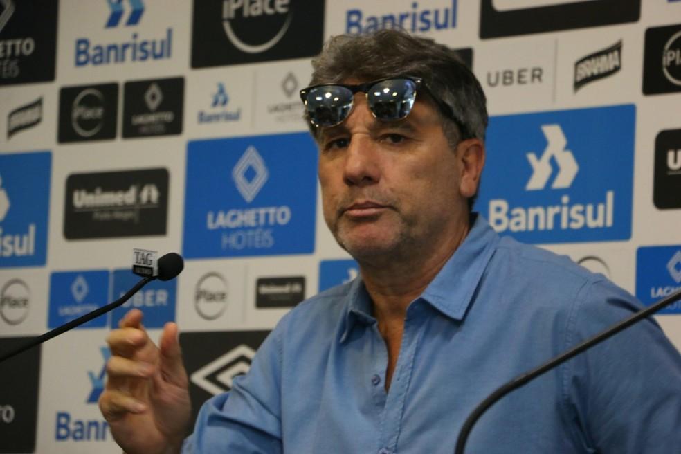 Renato Gaúchofala sobre a permanência no Grêmio — Foto: Eduardo Moura/GloboEsporte.com