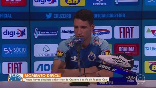 """Em fase difícil do Cruzeiro, Thiago Neves chama responsabilidade para si: """"Preciso ser decisivo"""""""
