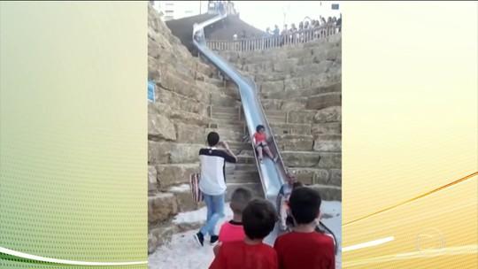 Escorregador de 38 metros é interditado, na Espanha