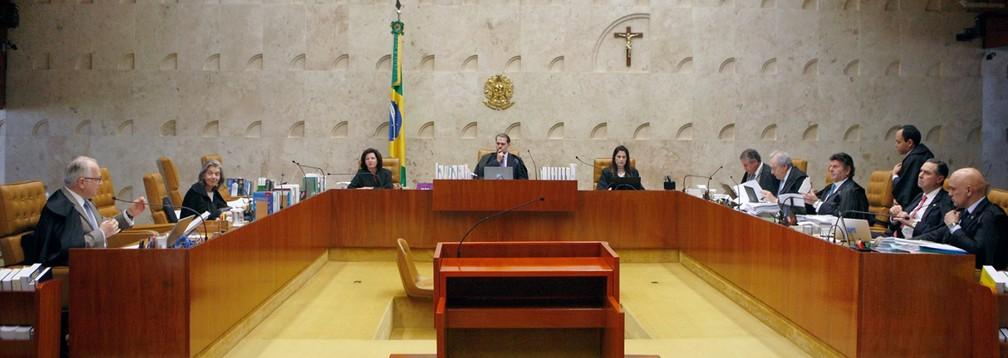 Ministros do STF no plenário do tribunal — Foto: Rosinei Coutinho/SCO/STF