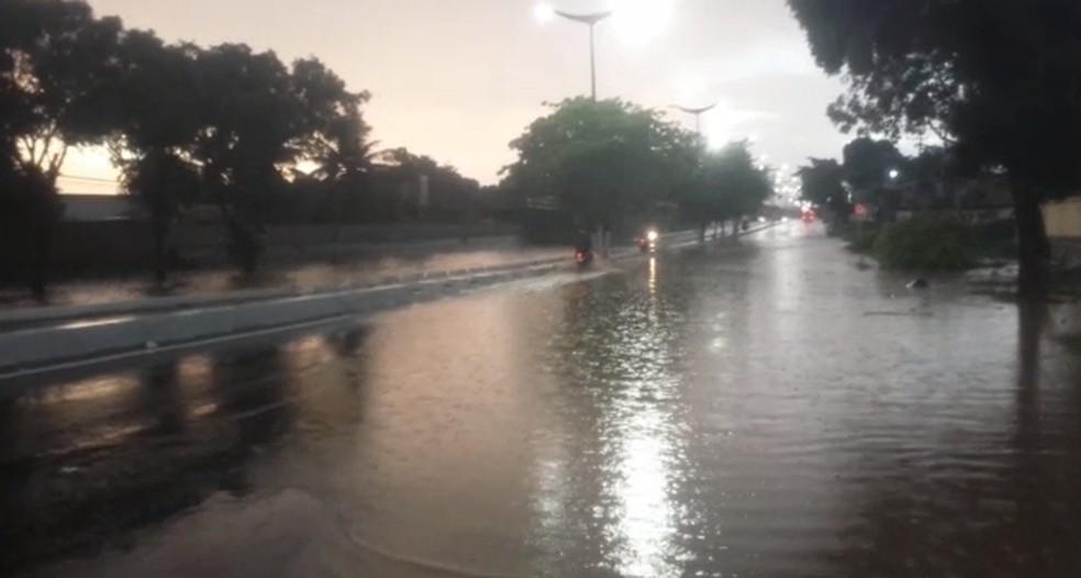 Triângulo Crajubar na manhã deste sábado (8). Trânsito ficou complicado — Foto: Agência Diário