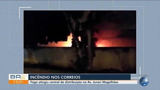 Incêndio atinge central de distribuição dos Correios em Vitória da Conquista