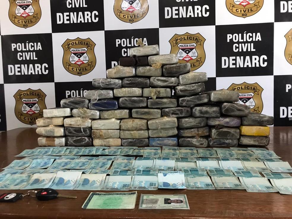 Droga apreendida na Operação Norte da Polícia Civil — Foto: Divulgação/Polícia Civil