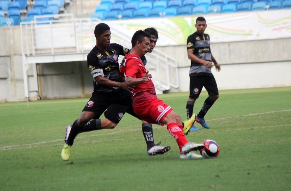 Marcelinho marcou o gol da vitória do América-RN aos 40 minutos do segundo tempo (Foto: Diego Simonetti/Blog do Major)