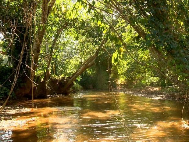 Rio Mangaraí em Santa Leopoldina, na região Serrana do Espírito Santo (Foto: Reprodução/ TV Gazeta)