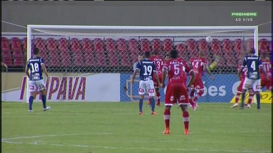 O gol de CRB 1 x 0 São Bento, pela Série B do Brasileirão