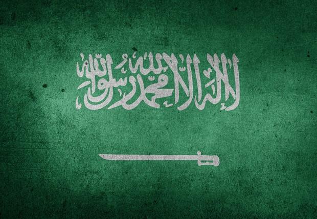Bandeira da Arábia Saudita. País tenta conciliar caráter monárquico absolutista com investimentos em tecnologias inovadoras (Foto: Pixabay)