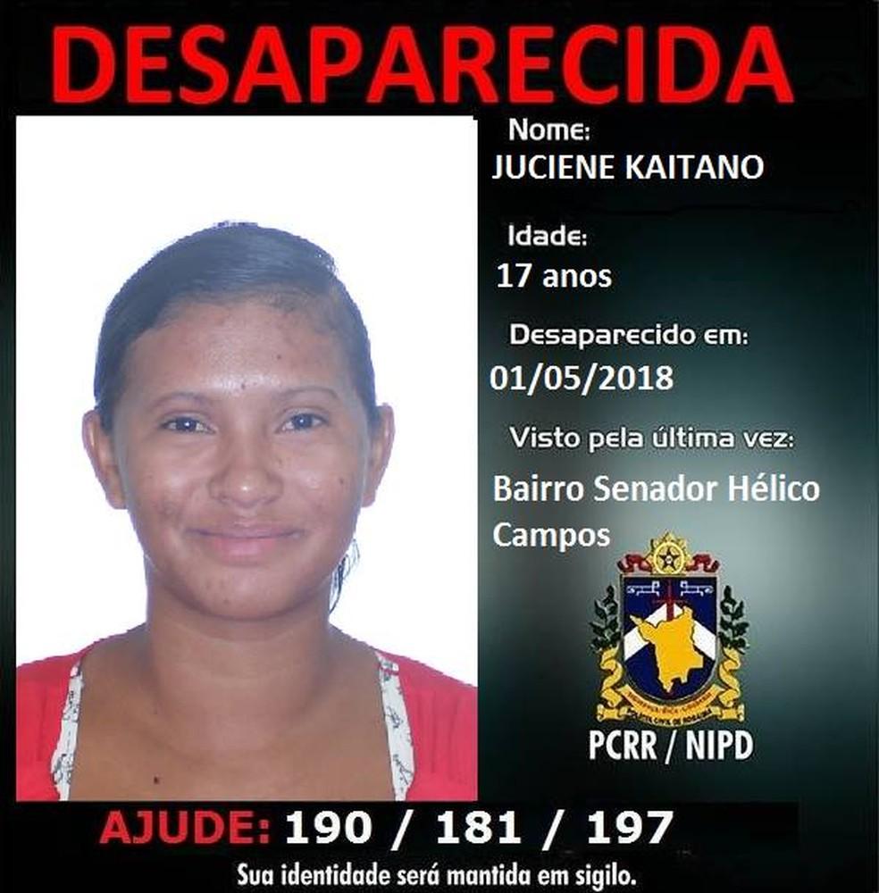 Corpo de Juciene Kaitano foi encontrado em uma área de lavrado (Foto: Reprodução/Facebook/Nipd Pcrr)