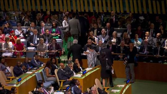 Diplomatas e ministros de 6 países protestam contra Temer na ONU