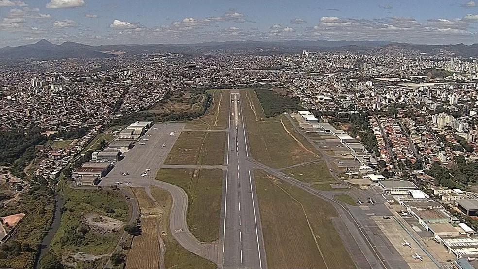 -  Aeroporto da Pampulha, em Belo Horizonte  Foto: Reprodução/TV Globo