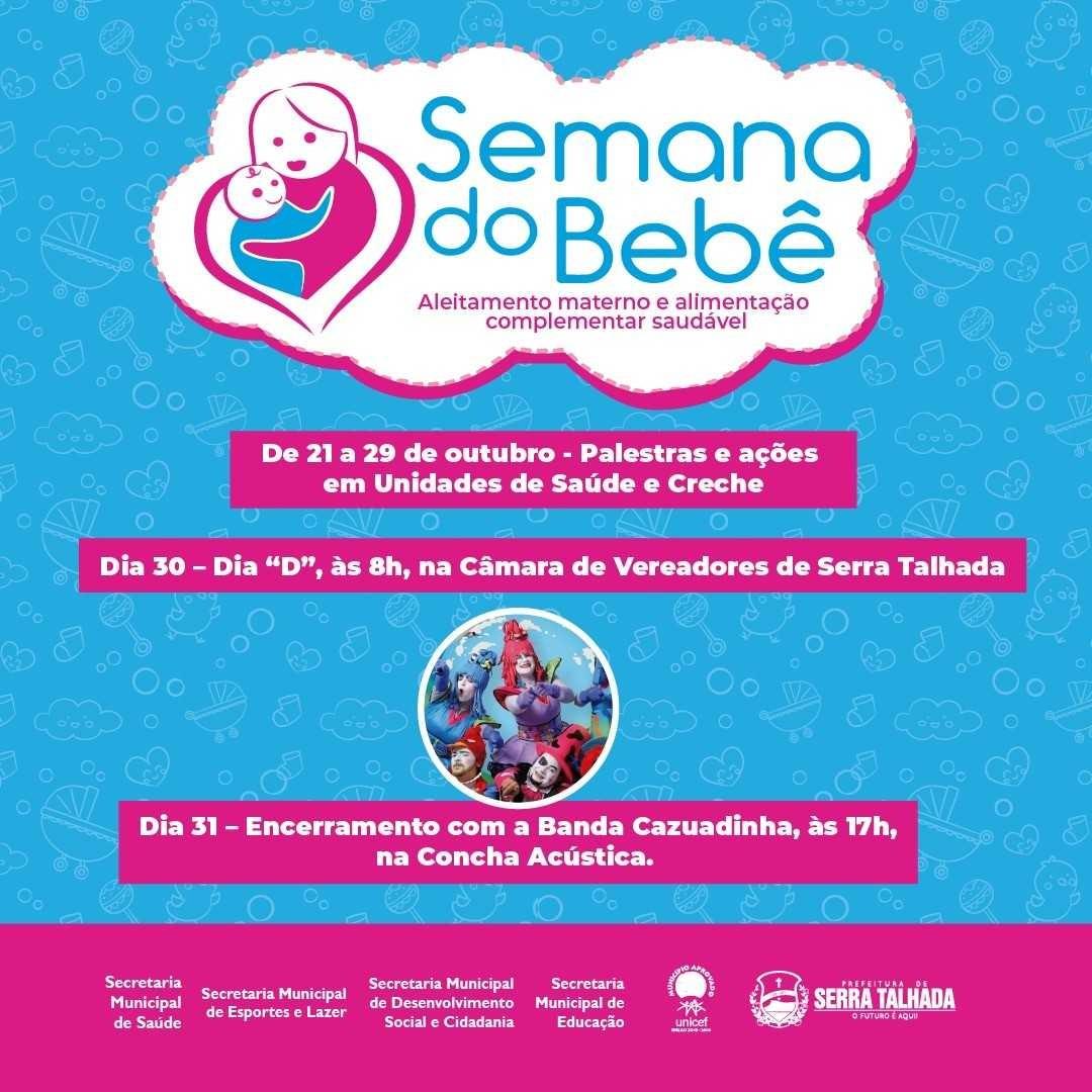 'Semana do Bebê' é realizada em unidades de saúde e creches de Serra Talhada  - Notícias - Plantão Diário