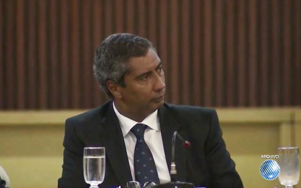 Promotor foi preso na noite de quarta-feira (12), após Justiça determinar prisão (Foto: Reprodução/ TV Bahia)