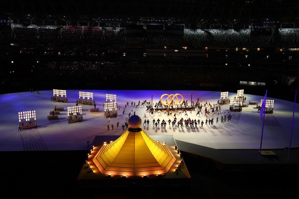 Cerimônia de abertura dos Jogos Olímpicos de Tóquio, no Japão — Foto: Leonhard Foeger/Reuters