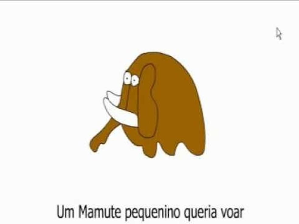 Vídeos cômicos como 'A História do Mamute' circulavam pelos e-mails dos anos 2000 — Foto: Reprodução/TechTudo
