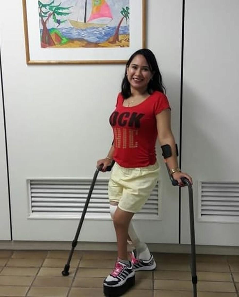 Narayana Moura faz o tratamento o Hospital Sarah Kubitschek desde os dois meses de idade — Foto: Narayana Moura/Arquivo pessoal