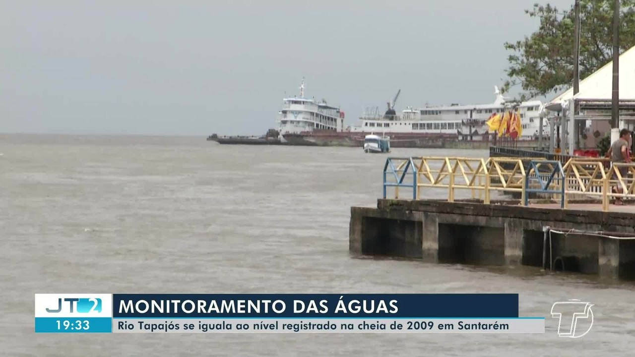 Nível do Rio Tapajós se iguala ao registrado na grande cheia de 2009, em Santarém