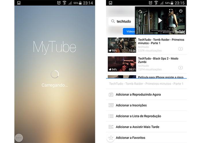 MyTube permite conhecer novos vídeos e adicionar nos favoritos pelo YouTube (Foto: Reprodução/Barbara Mannara)