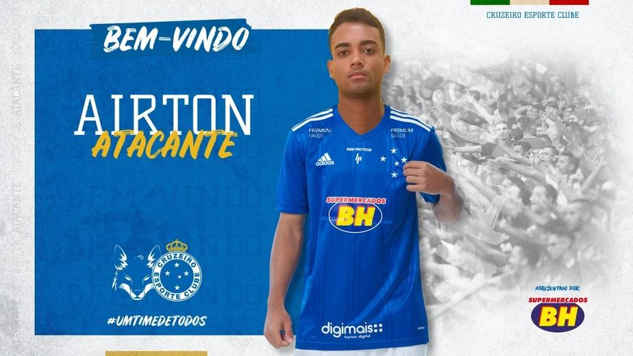 Cruzeiro Anuncia A Contratacao Do Atacante Airton Revelado Pelo Palmeiras Cruzeiro Ge