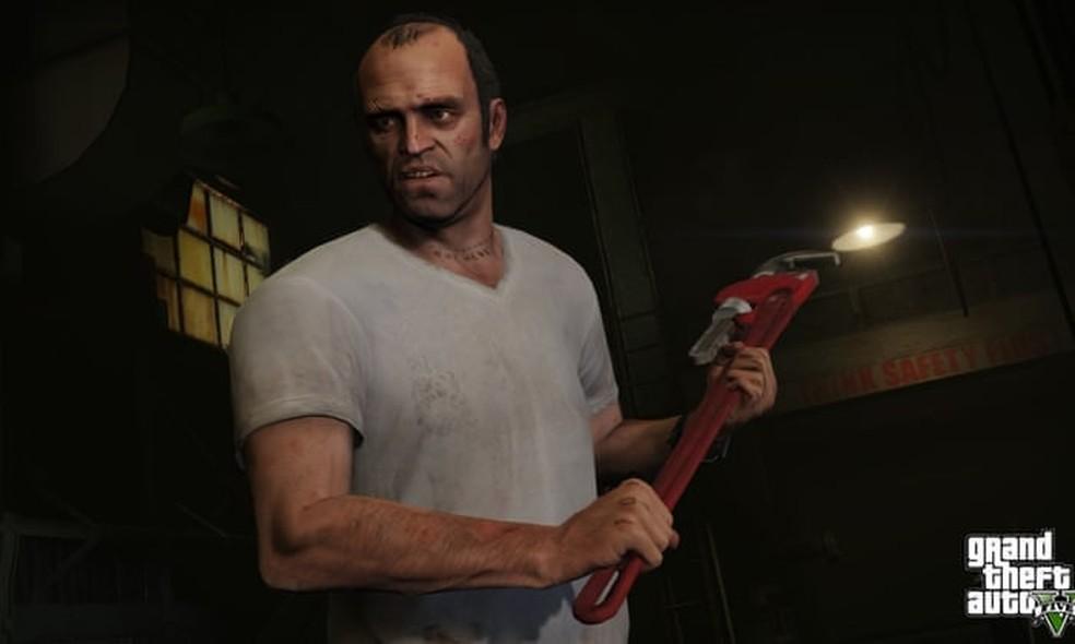 Cenas de tortura em uma missão com Trevor e Michael não pegaram bem — Foto: Divulgação/Rockstar Games