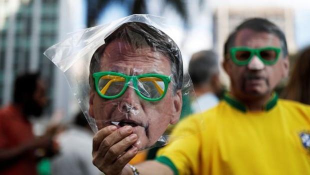 Desempenho de Bolsonaro é melhor em regiões onde eleitores se preocupam mais com corrupção (Foto: Reuters via BBC)