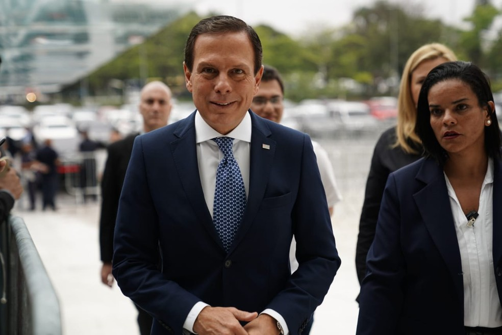 Governador João Doria chega à Alesp para o velório de Gugu Liberato ? Foto: Marcelo Brandt/G1