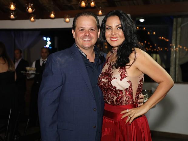 Gardênia Cavalcanti e seu marido o empresário e criador de cavalos Marcos Rezende (Foto: Lucio Cesar Pereira)