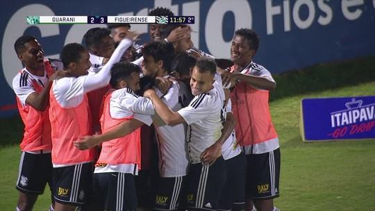 Os gols de Guarani 2 x 3 Figueirense pela 16ª rodada do Campeonato Brasileiro Série B