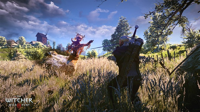 The_Witcher_3_Wild_Hunt_Geralt_fighting_a_Noonwraith