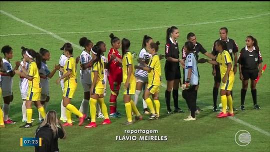 Falha, emoção e dever cumprido: o último jogo da goleira Kátia no Albertão