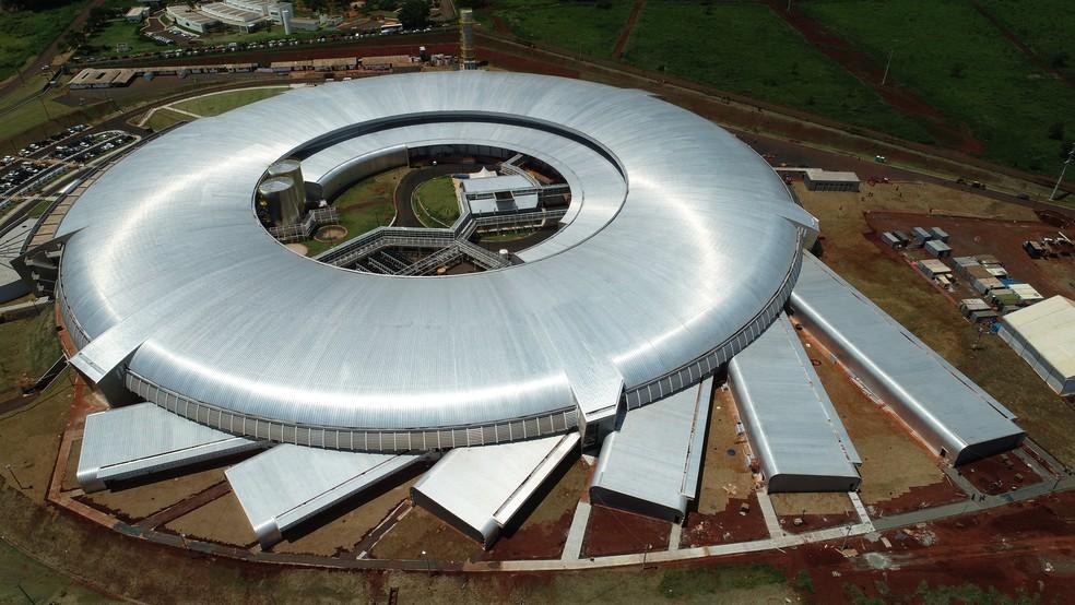 Maior obra científica do Brasil, Sirius fica no CNPEM, em Campinas (SP) — Foto: Cesar Cocco