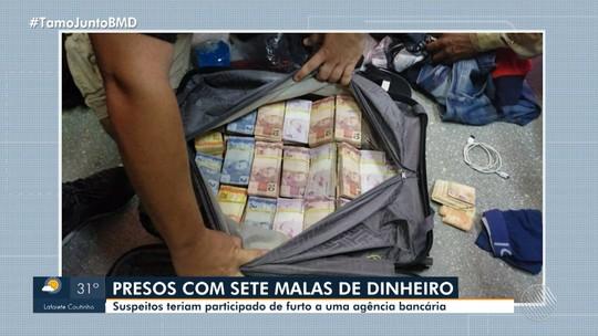 Suspeitos de furto uma agência bancária em Teixeira de Freitas são presos em aeroporto