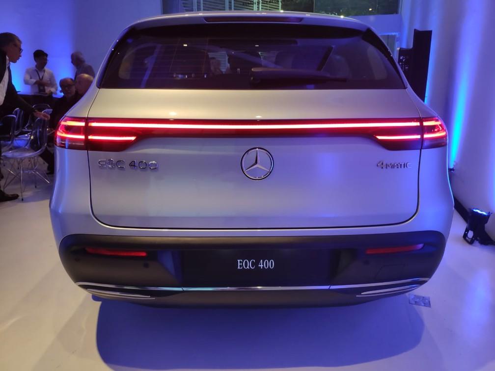 Mercedes-Benz EQC é o primeiro SUV elétrico da marca alemã — Foto: André Paixão/G1
