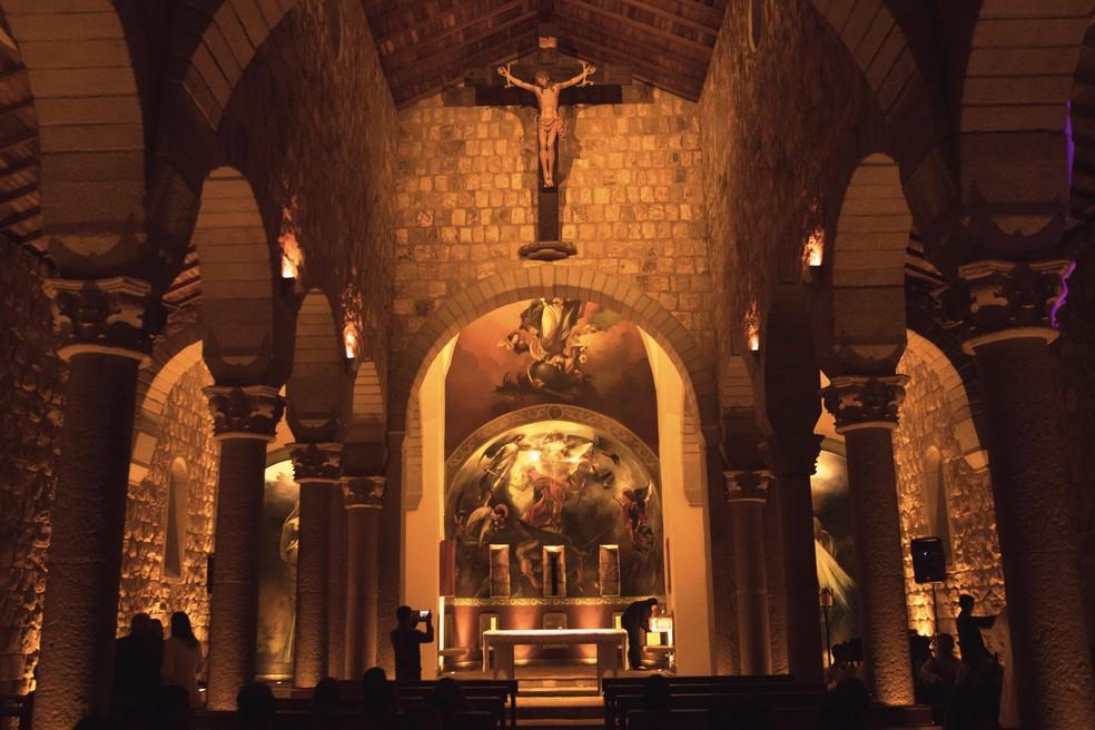 Igreja de São Miguel Arcanjo completa dois anos de inauguração no dia 1º de outubro — Foto: Muniz França/Sociedade São Miguel Arcanjo