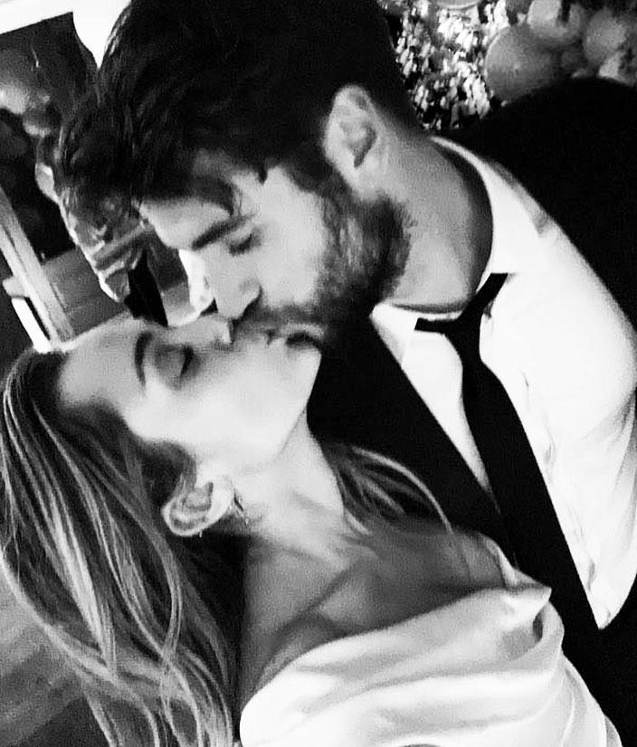 Miley Cyrus e Liam Hemsworth (Foto: reprodução/ Instagram)