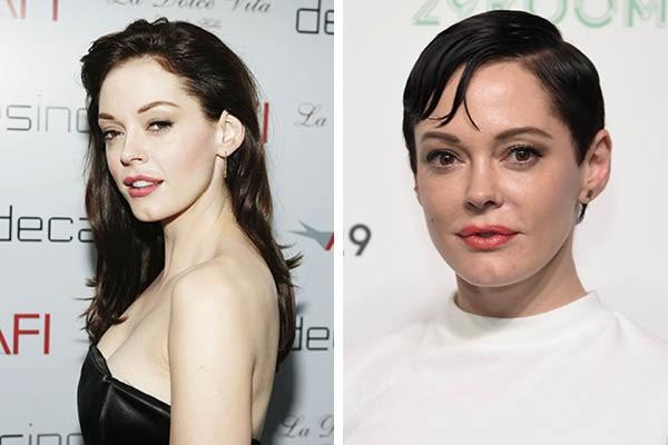 Rose McGowan em 2006 e agora (Foto: Getty Images)