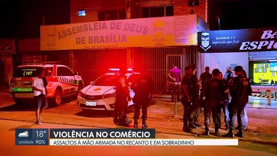 Policial reage a assalto e fere bandido em padaria do Recanto das Emas