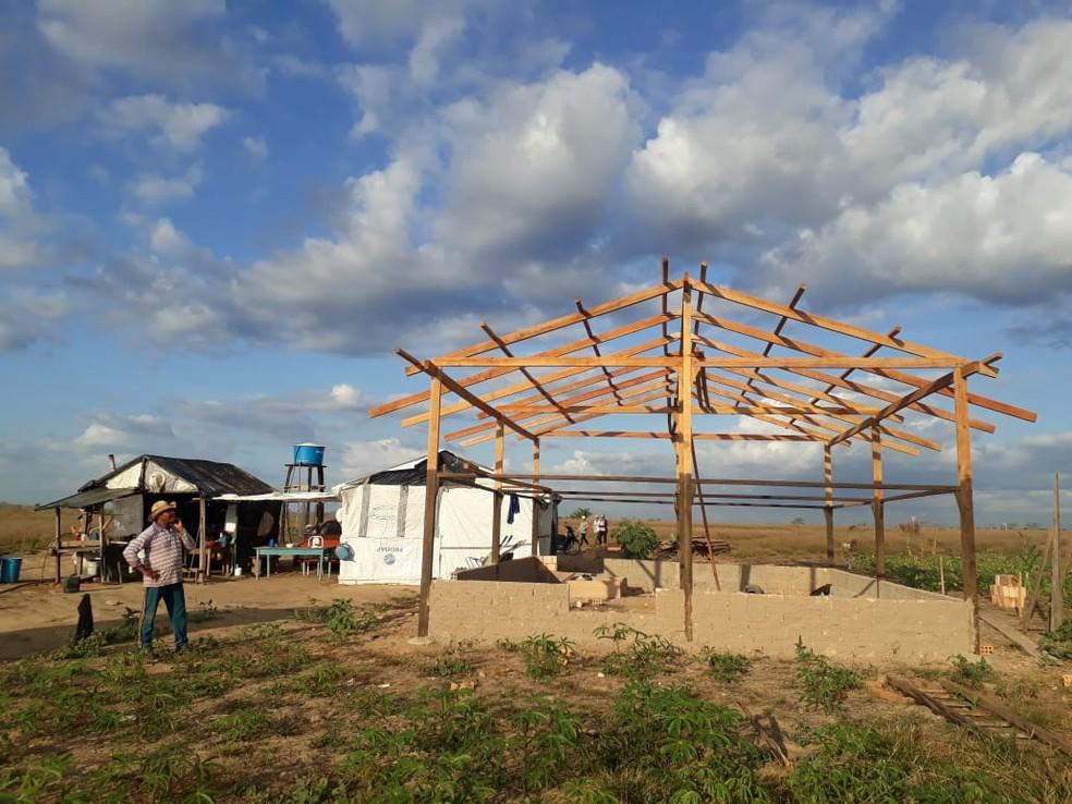 Famílias moram em área da União destinada à reforma agrária (Foto: CPT/Divulgação)