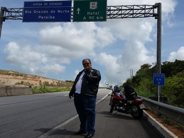 Padre já viajou por todas as estradas dos Estados do Nordeste (Foto: Aloísio Vieira/Arquivo Pessoal)