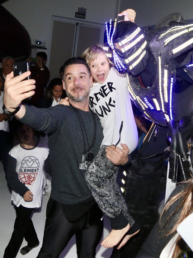 Alexandre Iódice com Vittorio (Foto: Manuela Scarpa/Brazil News)