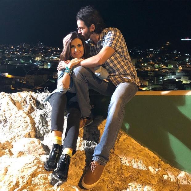 Fátima Bernardes e Túlio Gadêlho (Foto: Reprodução)