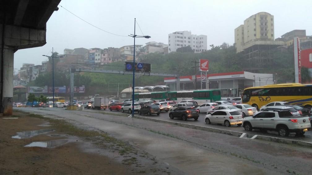 Avenida Bonocô, em Salvador — Foto: Arquivo pessoal