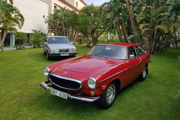 P1800 ES e 960 foram exibidos no evento do Volvo V60 (Foto: Julio Cabral/Autoesporte)