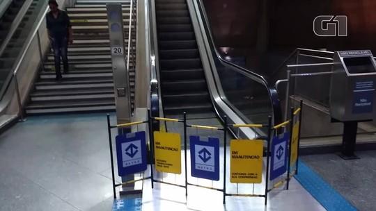 Falhas nas escadas rolantes das estações da CPTM sobem 12% em 2017